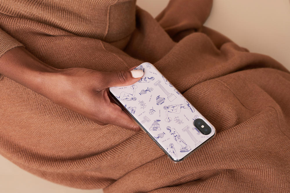 The Wing Fall 2018 Casetify Grecian Phone Case Pink