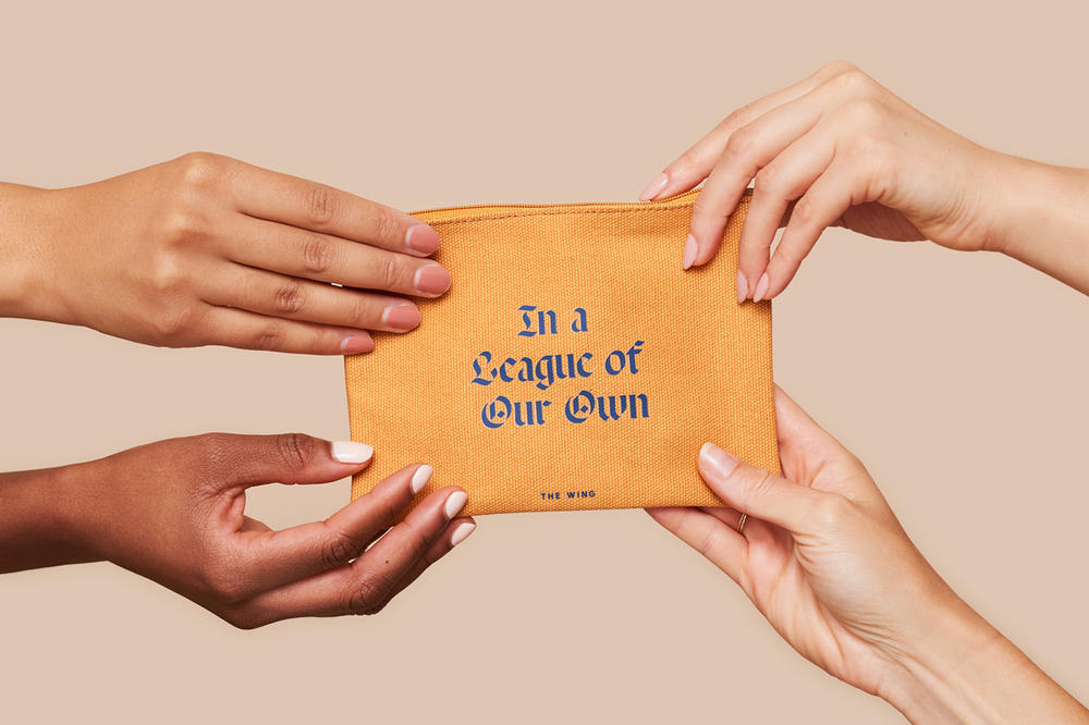 The Wing Fall 2018 In A League of Our Own Pouch Yellow