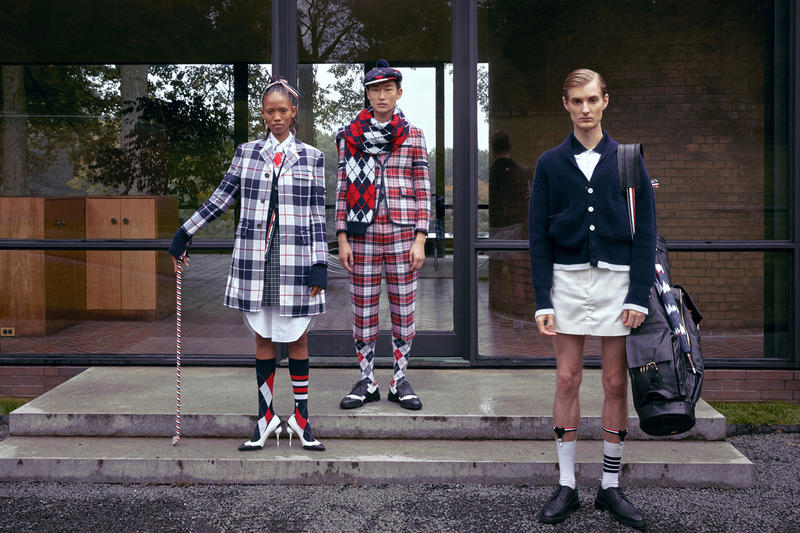 Thom Browne Golf Capsule Collection Plaid Jackets Shorts Blue White Red Cardigan Navy Bottoms White