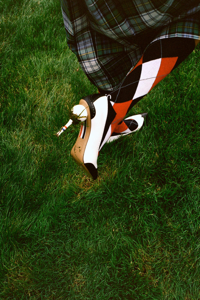 Thom Browne Golf Capsule Collection Heels White Navy Silver
