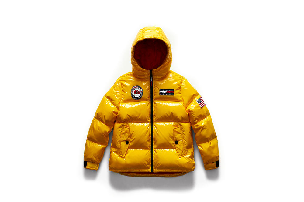 Tommy Jeans Outdoors Fall 2018 Capsule Collection Puffer Yellow