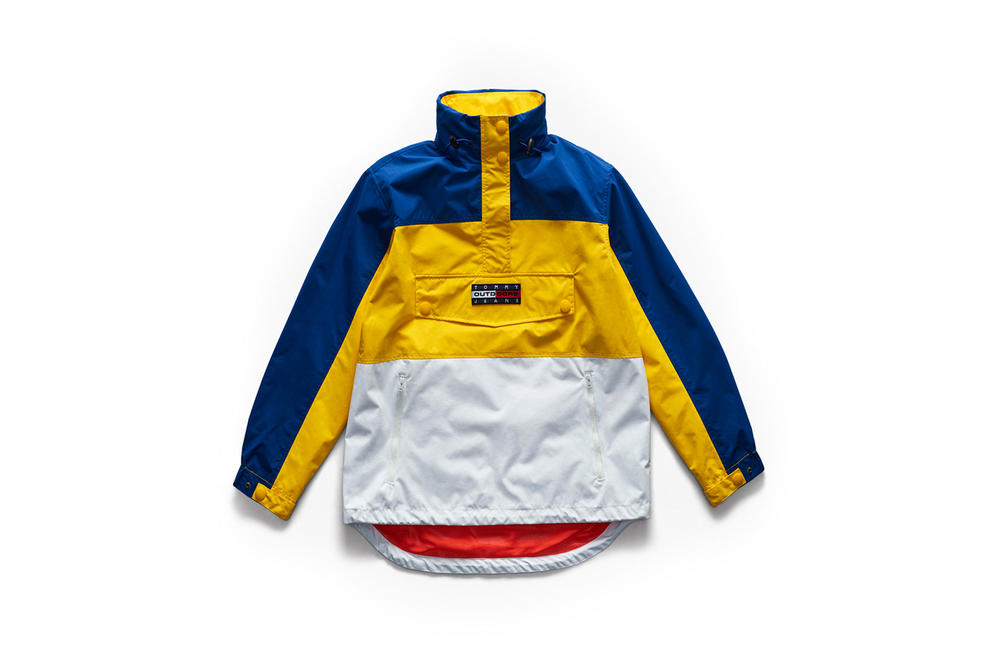 Tommy Jeans Outdoors Fall 2018 Capsule Collection Windbreaker Blue Yellow White