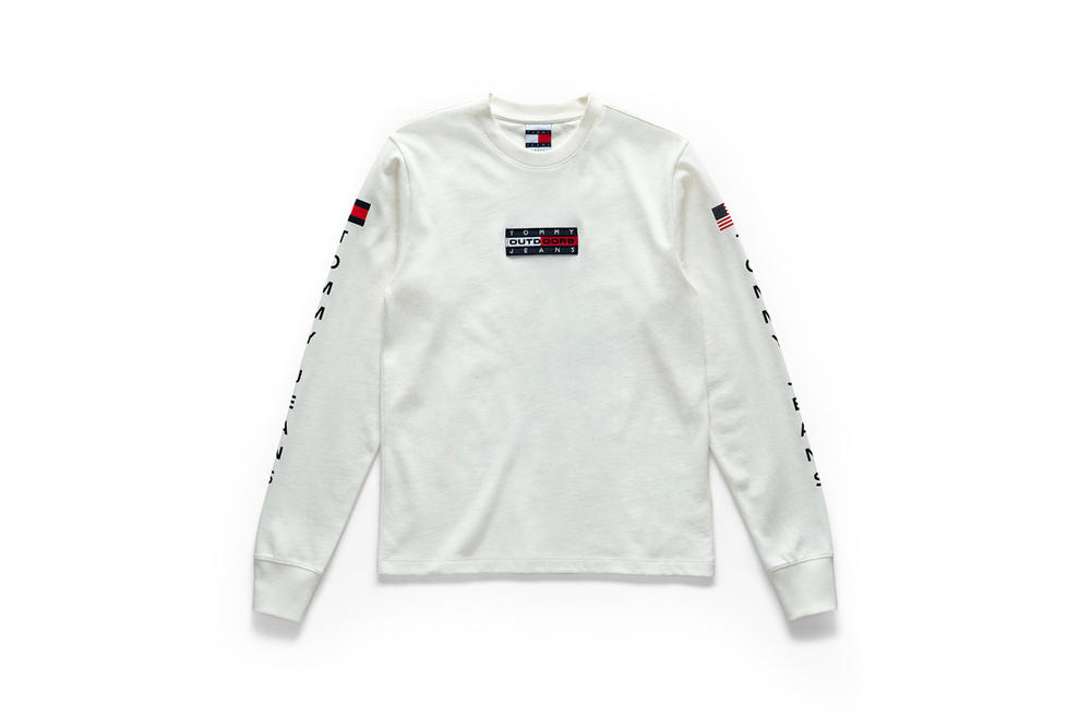 Tommy Jeans Outdoors Fall 2018 Capsule Collection Long Sleeve T-shirt White