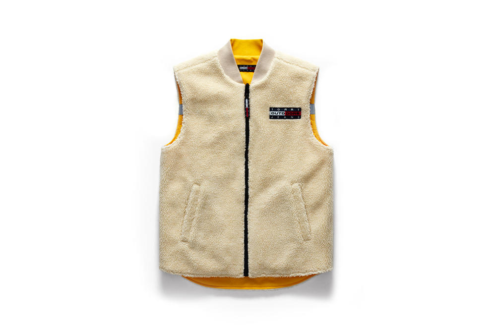 Tommy Jeans Outdoors Fall 2018 Capsule Collection Reversible Vest Tan Yellow