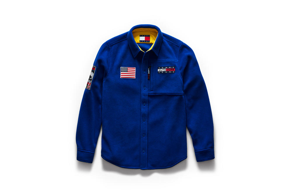 Tommy Jeans Outdoors Fall 2018 Capsule Collection Fleece Shirt Blue