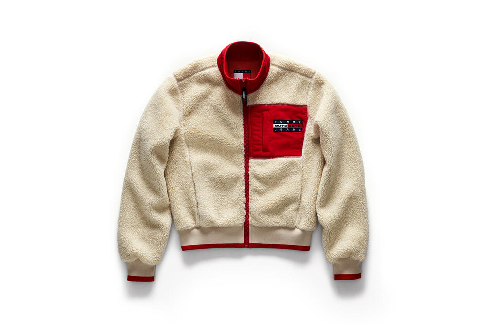 Tommy Jeans Outdoors Fall 2018 Capsule Collection Sherpa Bomber Tan Red