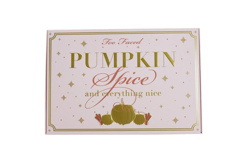 Too Faced Launches a Pumpkin Spice Collection Makeup Liquid Lipstick Eyeshadow Palette Fall