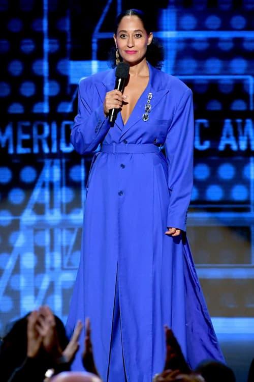 2018 American Music Awards Tracee Ellis Ross Deshon Suit Blue