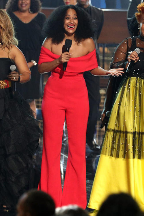 2018 American Music Awards Tracee Ellis Ross Cushnie Jumpsuit