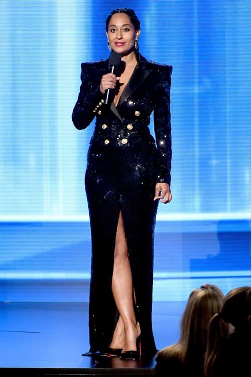 2018 American Music Awards Tracee Ellis Ross Balmain Dress Black