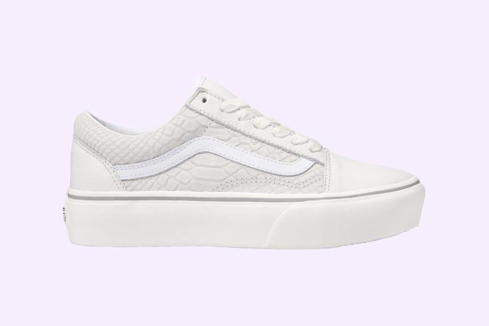 vans platform white leather