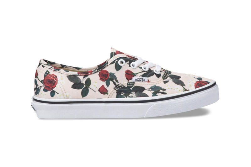 Vans Sk8-Hi Authentic Rose Print Pattern Sneakers