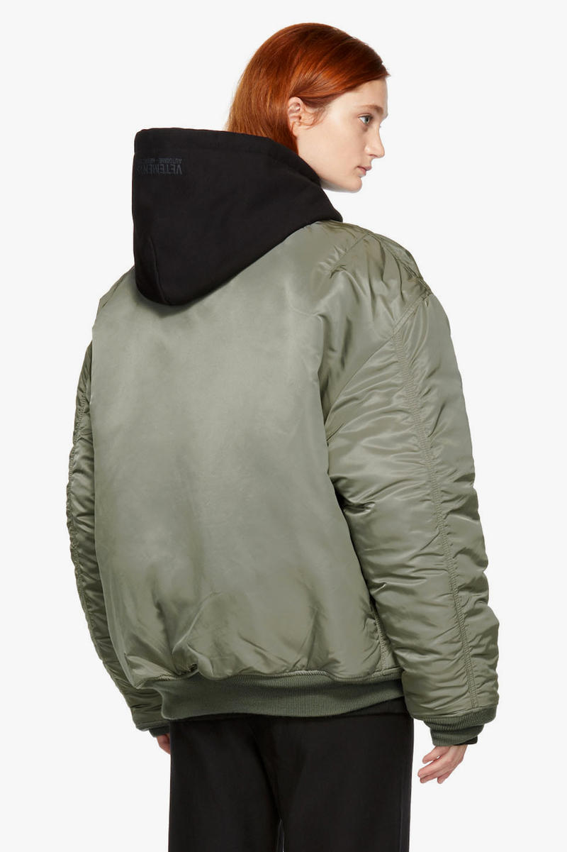 Vetements x Alpha Industries Patch Bomber Jacket Olive Black Oversized