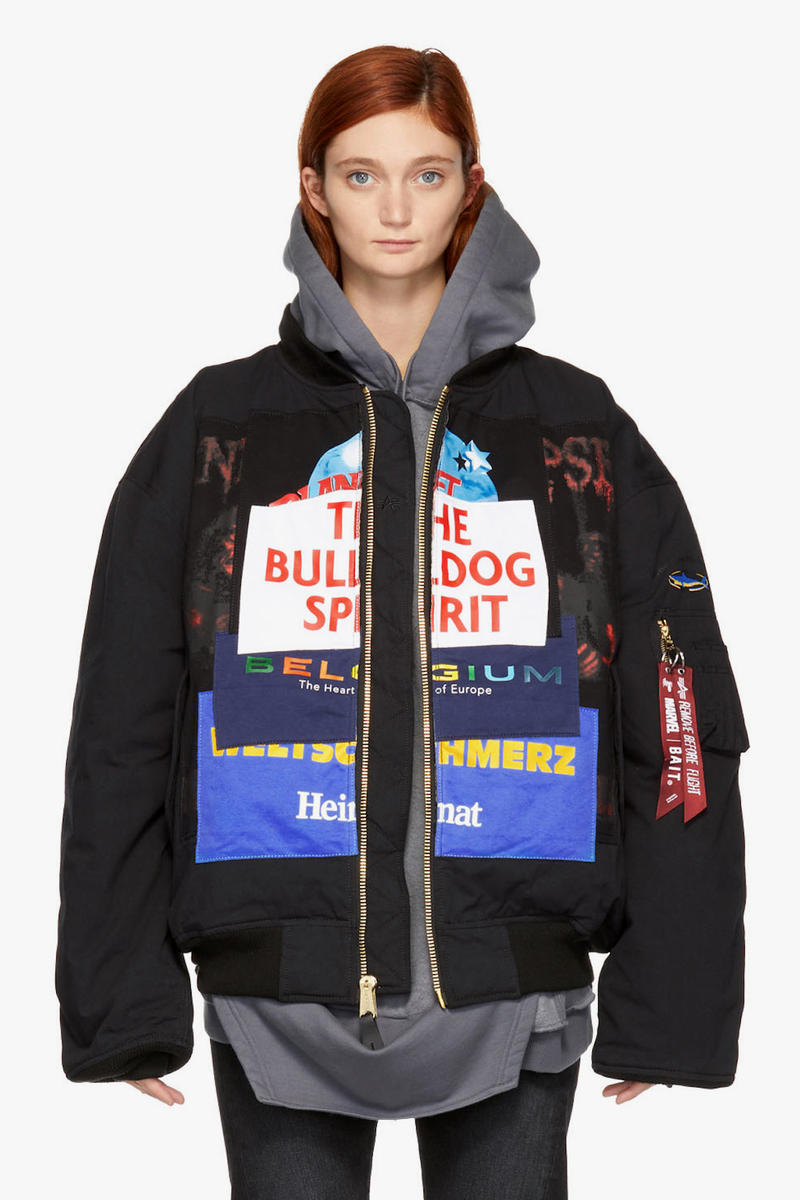 huge discount 93a53 acb82 Vetements x Alpha Industries Patch Bomber Jacket | HYPEBAE