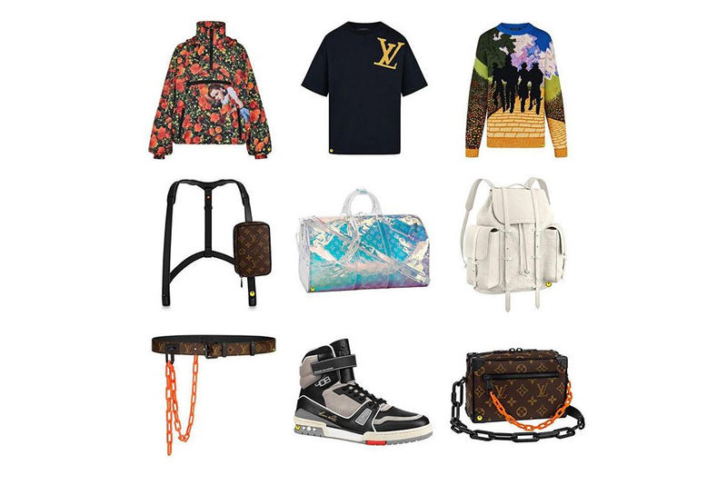 c87a0b65679f Virgil Abloh Louis Vuitton Spring Summer 2019 Collection Sweaters Handbags  Sneaker