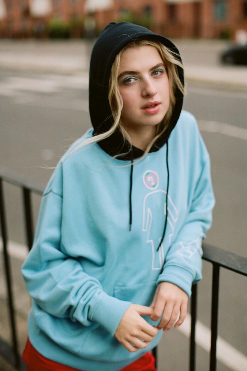 X-Girl Fall Winter 2018 Collection Anais Gallagher Campaign Hoodie Black Blue