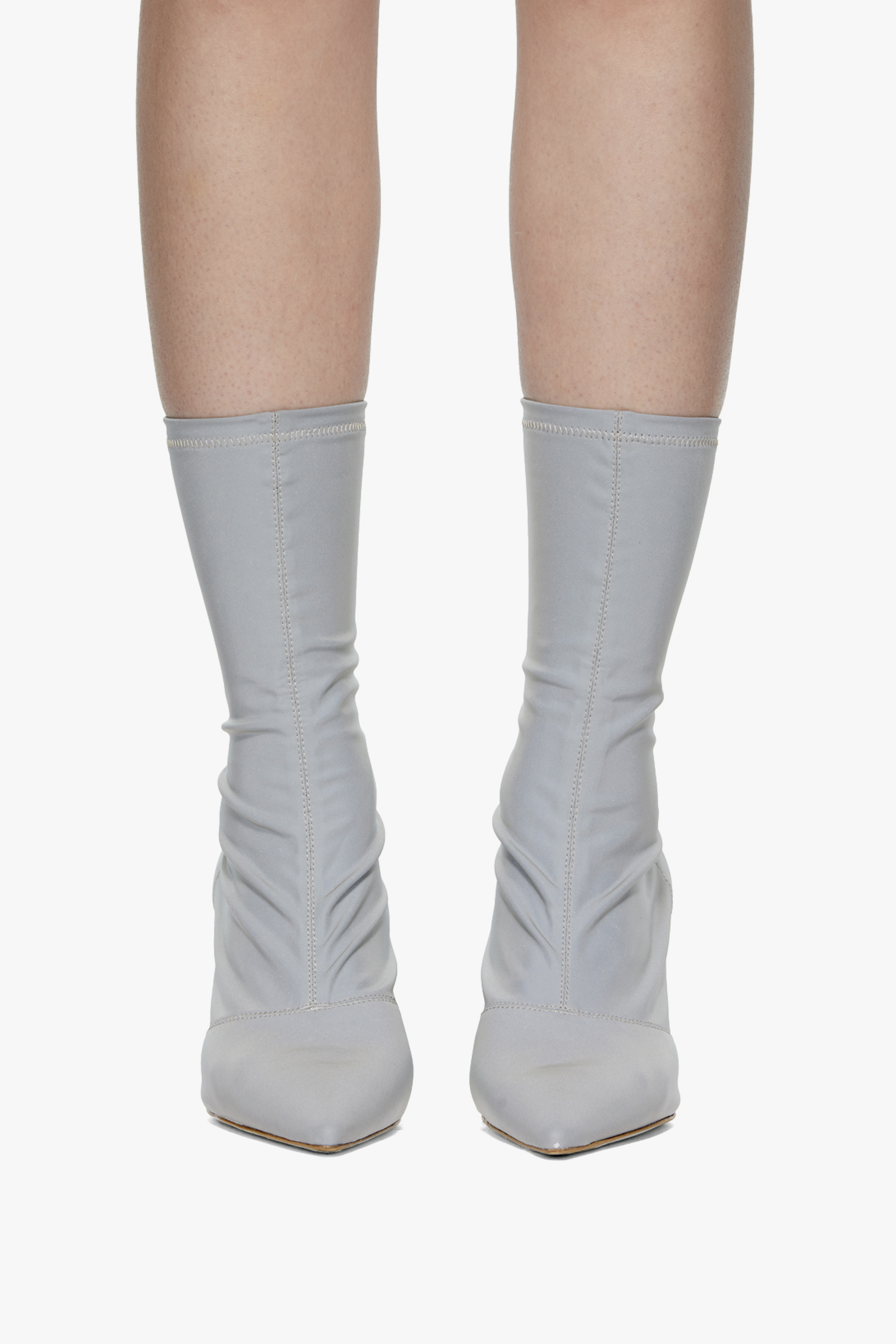 YEEZY Silver Reflective Ankle Boots