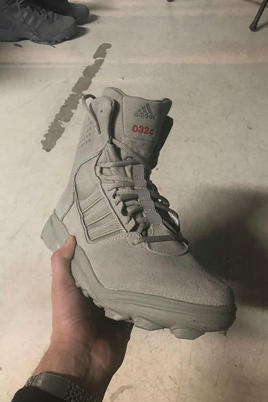 032c x adidas Military Boot Collaboration Grey
