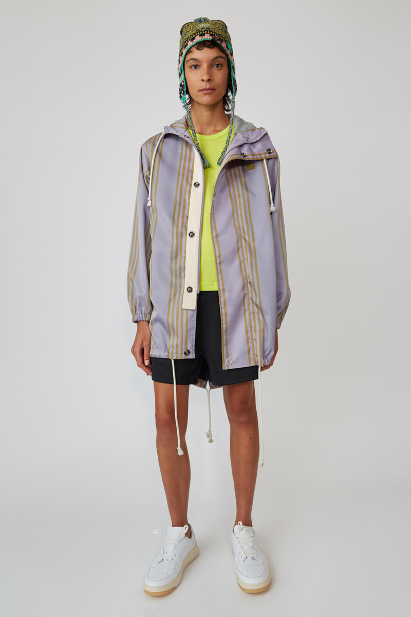 Acne Studios Spring/Summer 2019 Face Collection Anorak Purple Shorts Black