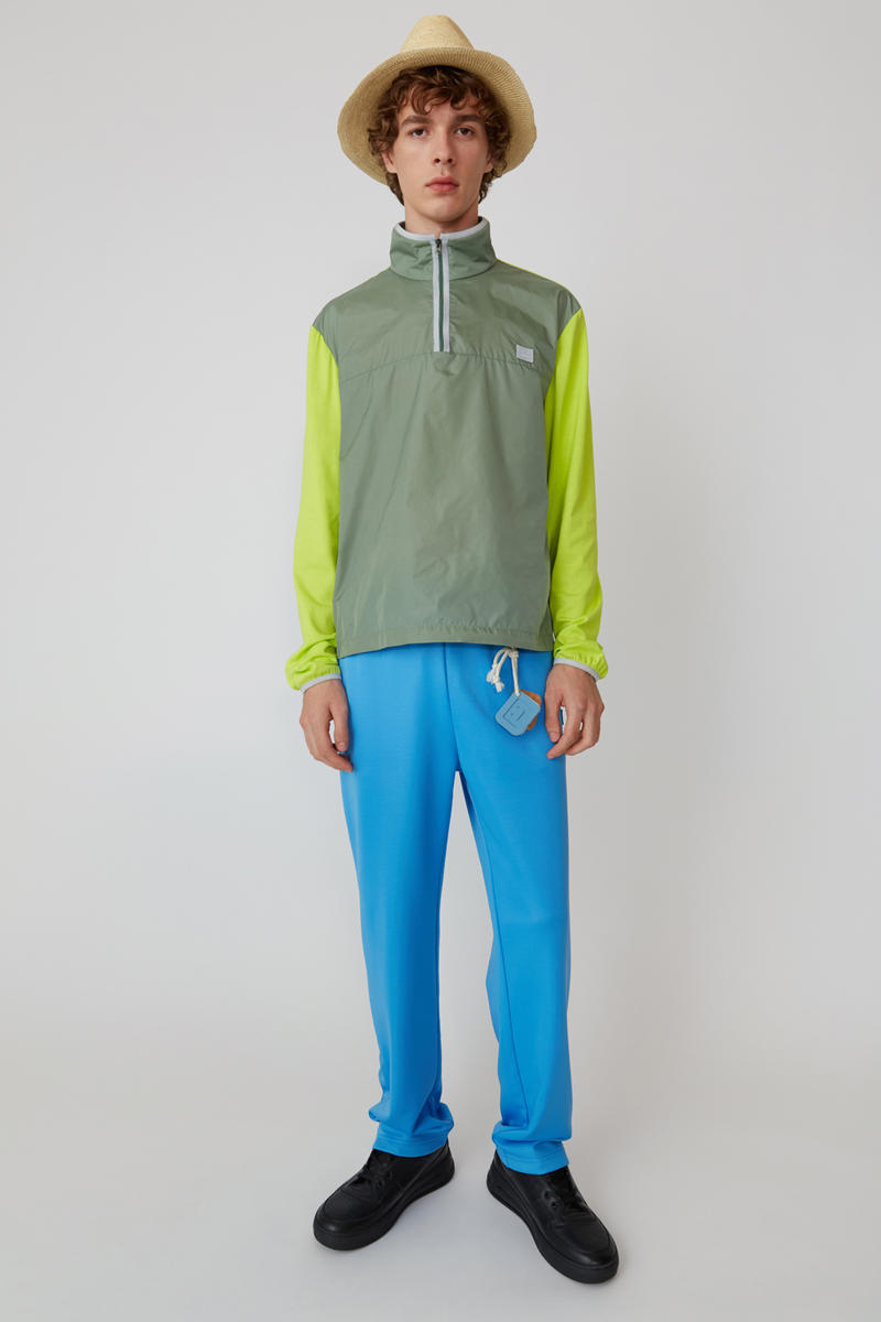 Acne Studios Spring/Summer 2019 Face Collection Sweater Green Pants Blue