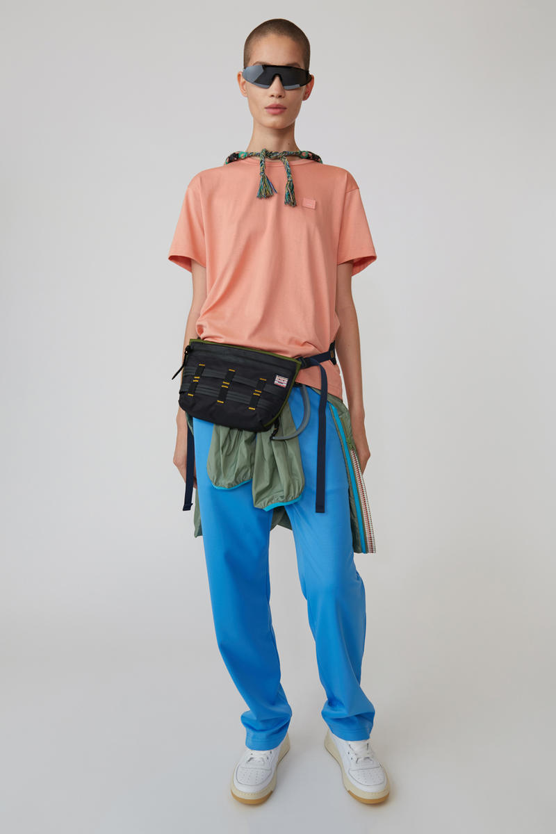 Acne Studios Spring/Summer 2019 Face Collection Shirt Orange Pants Blue