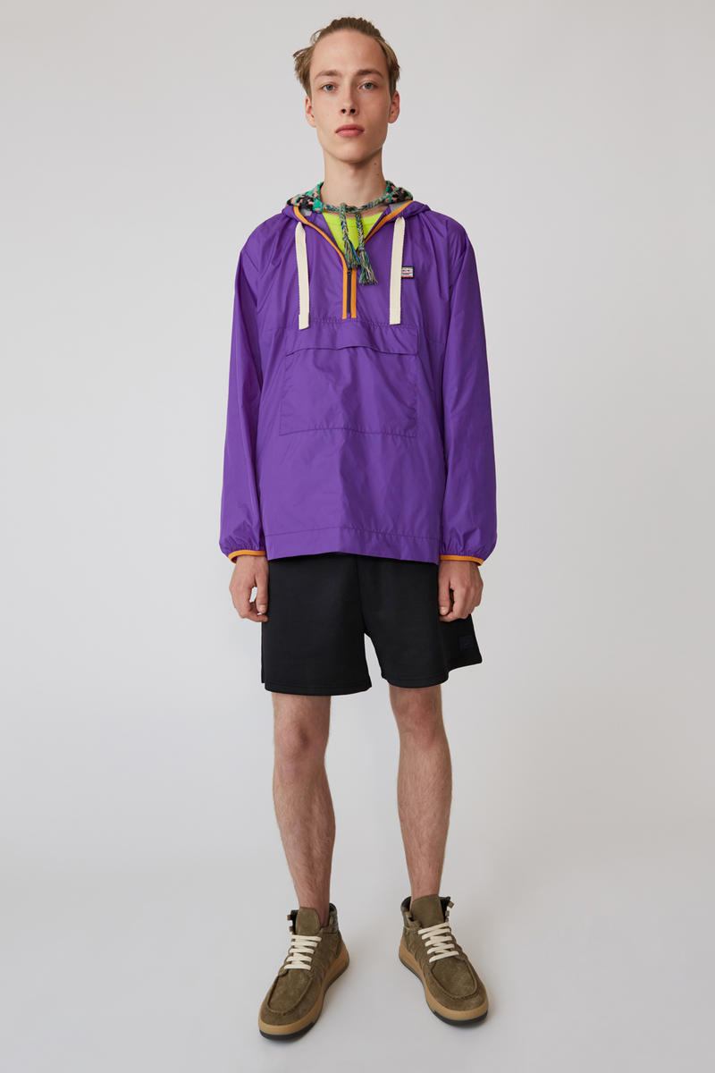 Acne Studios Spring/Summer 2019 Face Collection Jacket Purple Shorts Black