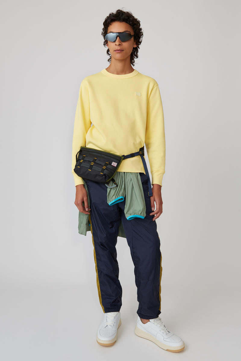 Acne Studios Spring/Summer 2019 Face Collection Sweatshirt Yellow Pants Black