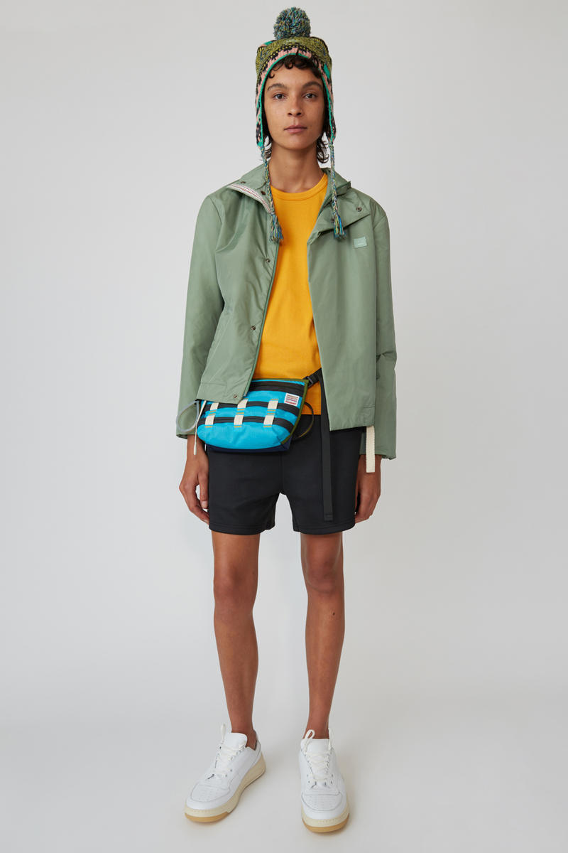 Acne Studios Spring/Summer 2019 Face Collection Shirt Orange Shorts Black