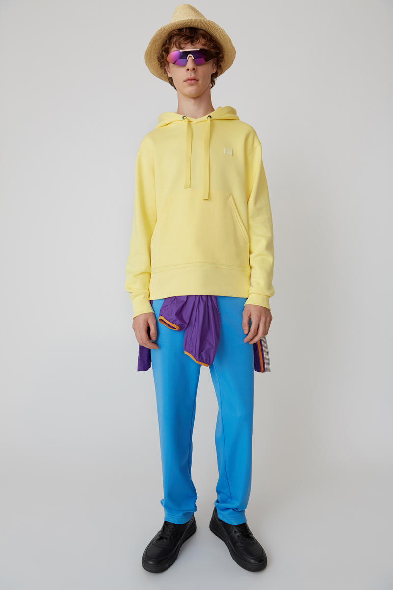 Acne Studios Spring/Summer 2019 Face Collection Hooded Sweatshirt Yellow Pants Blue