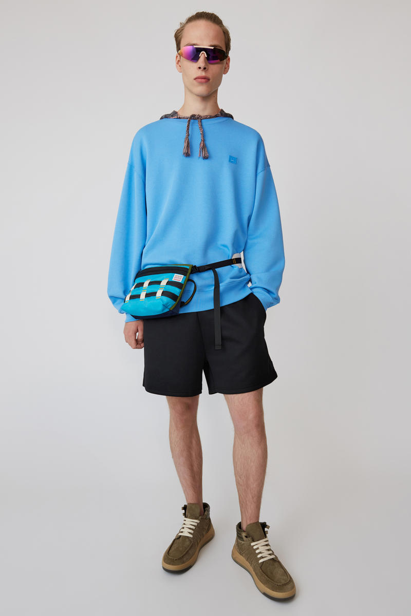 Acne Studios Spring/Summer 2019 Face Collection Sweatshirt Blue Shorts Black