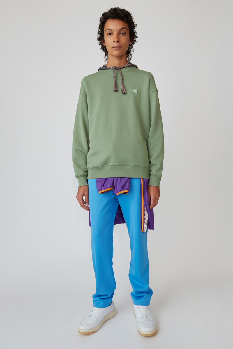 Acne Studios Spring/Summer 2019 Face Collection Sweatshirt Green Pants Blue
