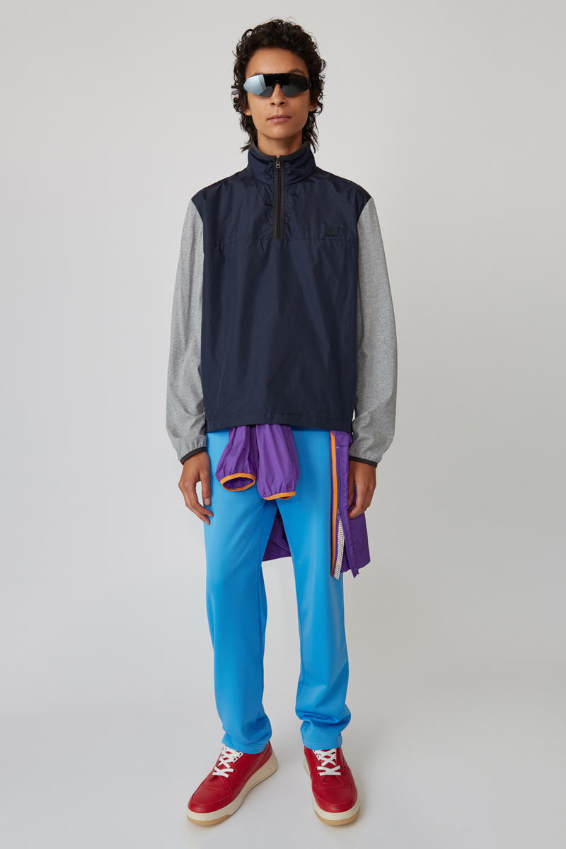 Acne Studios Spring/Summer 2019 Face Collection Hooded Sweatshirt Navy Pants Blue