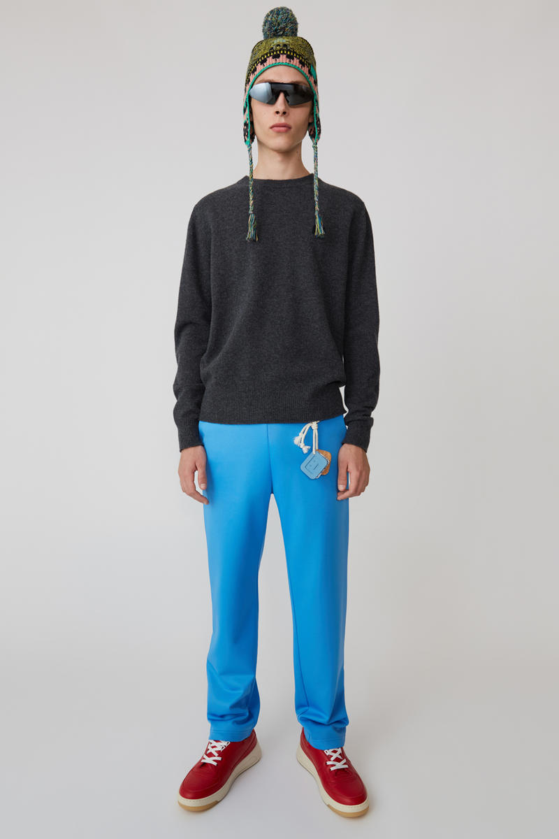 Acne Studios Spring/Summer 2019 Face Collection Sweatshirt Black Pants Blue