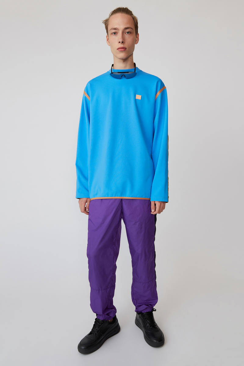 Acne Studios Spring/Summer 2019 Face Collection Sweatshirt Blue Pants Purple