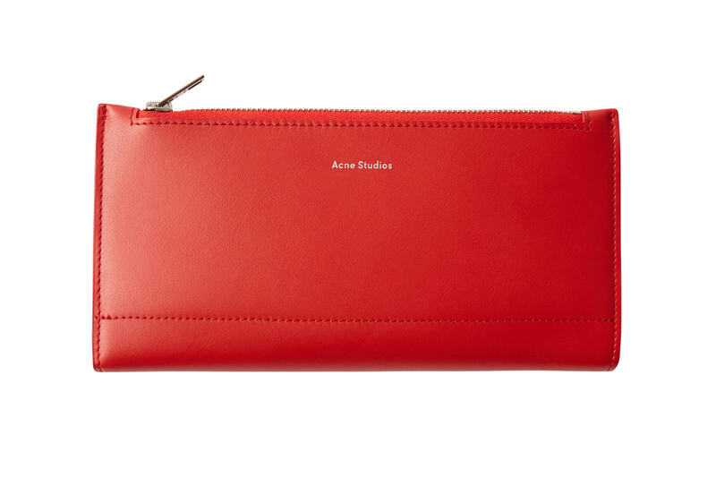Acne Studios Continental Wallet Red