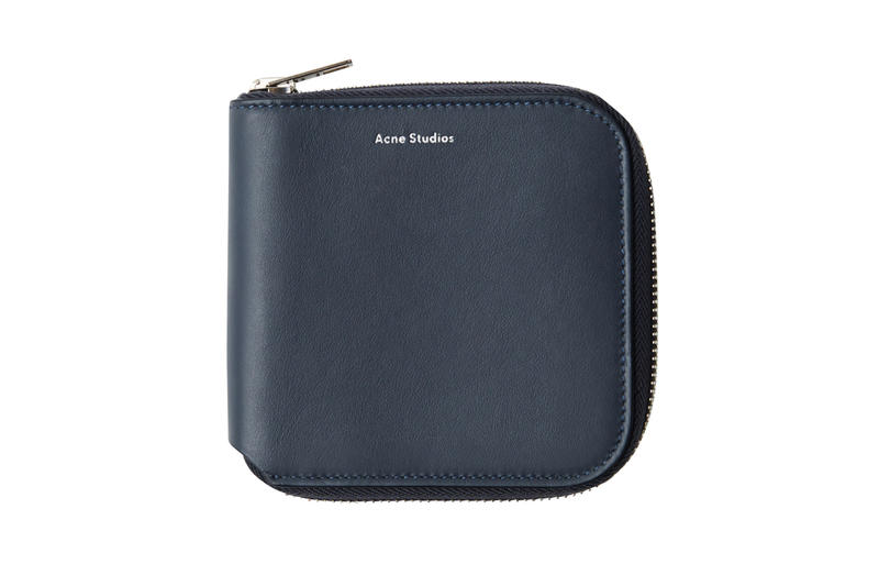 Acne Studios Zippered Wallet Blue