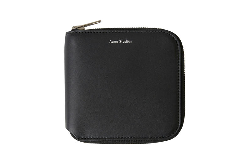 Acne Studios Zippered Wallet Black
