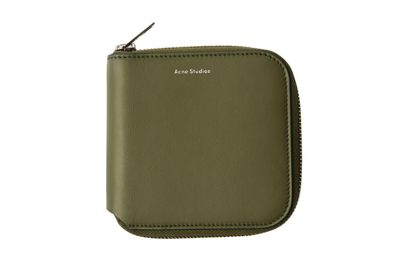Acne Studios Zippered Wallet Green