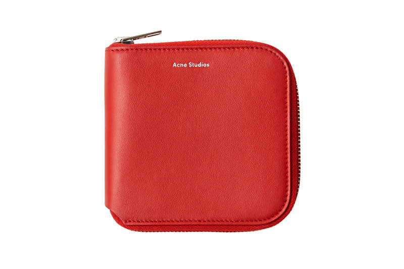 Acne Studios Zippered Wallet Red
