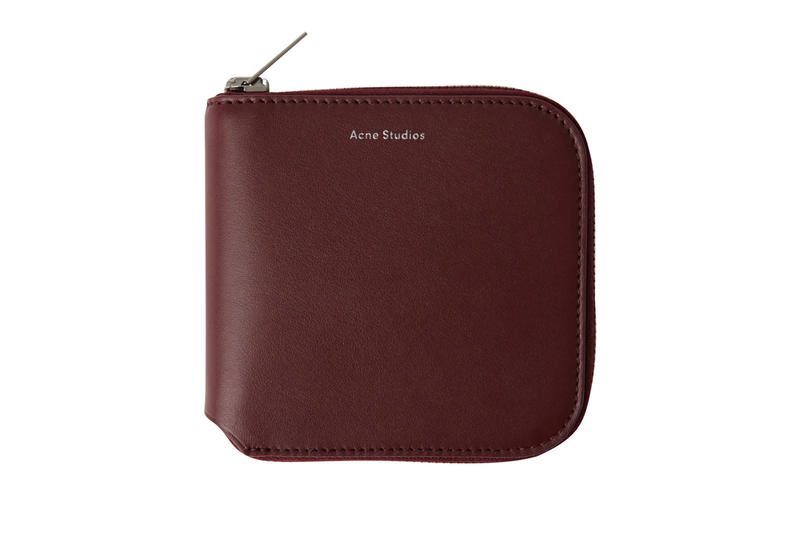 Acne Studios Zippered Wallet Maroon