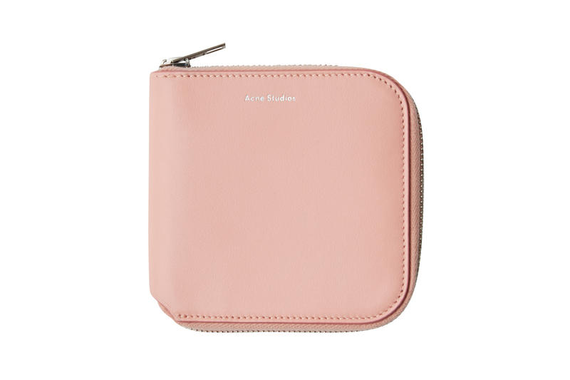 Acne Studios Zippered Wallet Pink