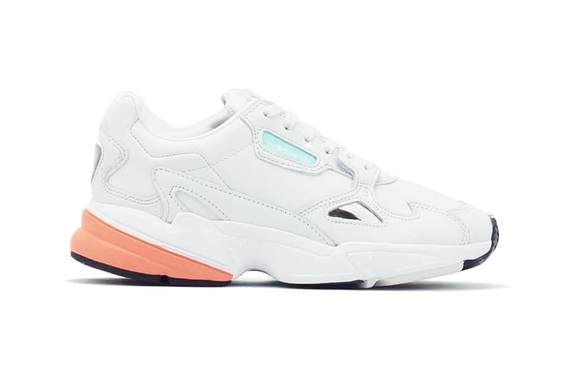 669be0402a755f adidas Originals Falcon Chunky Women s Sneaker Crystal White Easy Orange