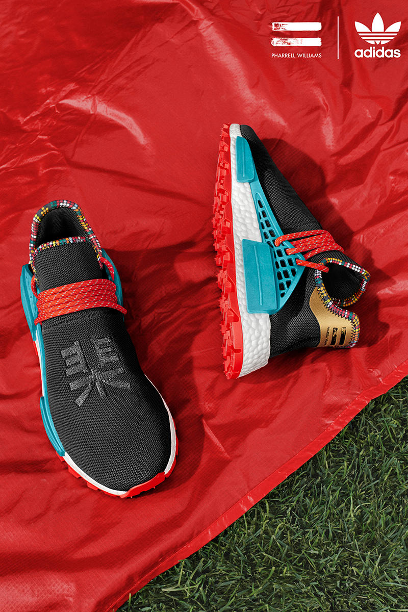 Pharrell Williams adidas Originals SOLARHU Fall Winter 2018 Apparel Footwear Hu NMD