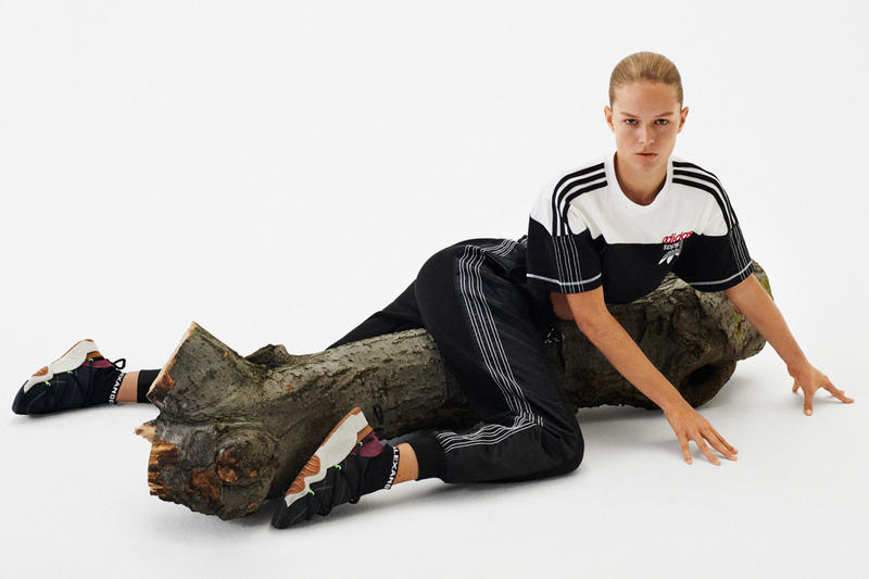Alexander Wang x adidas Originals Season 4 Collection T-shirt White Sweatpants Sneakers Black