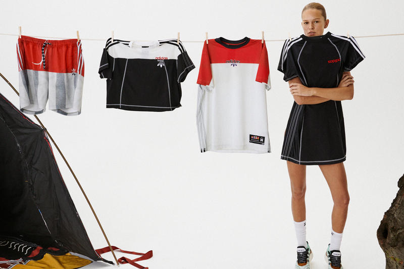 Alexander Wang x adidas Originals Season 4 Collection Dress Crop Top Black Shorts T-shirt Red