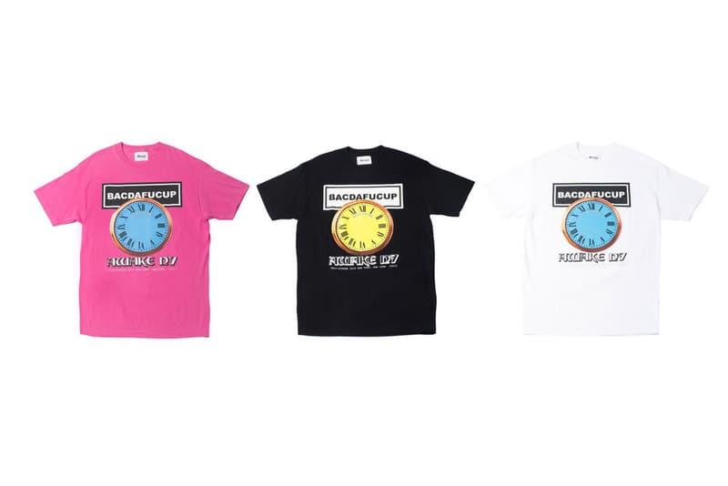 Awake NY BACDAFUCUP T-shirt Pink White Black