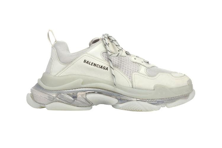 3b8a023cc00465 Balenciaga Adds a Clear Air Unit to the Chunky Triple-S Sneaker