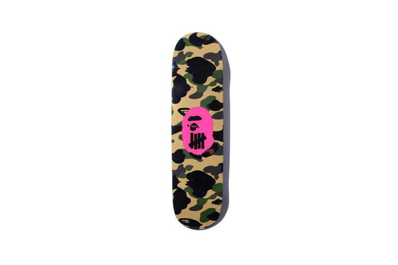 UNDEFEATED x BAPE Capsule Collection Skate Deck Pink Green Brown