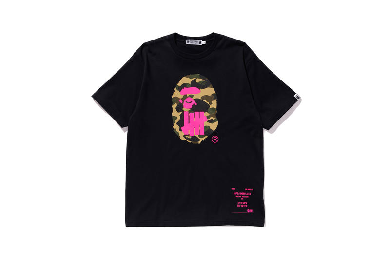 UNDEFEATED x BAPE Capsule Collection T-shirt Black