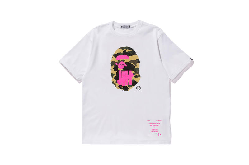 UNDEFEATED x BAPE Capsule Collection T-shirt White